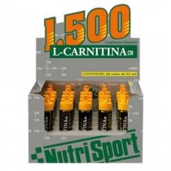 NUTRISPORT L-CARNI 1500 VIAL NARANJA