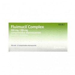 FLUIMUCIL COMPLEX 500/200 MG 12 COMP EFERV