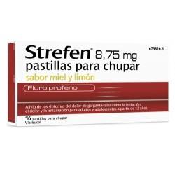 STREFEN 8,75 MG MIEL Y LIMON 16 PAST