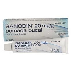 SANODIN 20 MG/G POM BUCAL